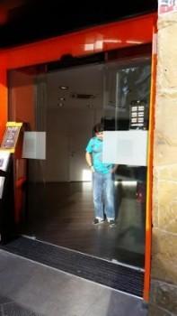 Puertas automatica de cristal